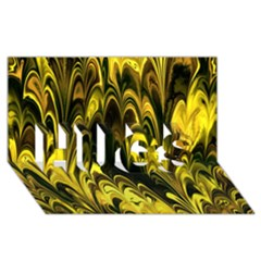 Fractal Marbled 15 HUGS 3D Greeting Card (8x4)
