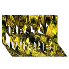 Fractal Marbled 15 Best Wish 3d Greeting Card (8x4)