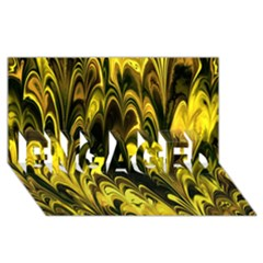 Fractal Marbled 15 ENGAGED 3D Greeting Card (8x4)