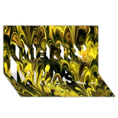 Fractal Marbled 15 Merry Xmas 3d Greeting Card (8x4)