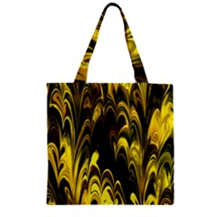 Fractal Marbled 15 Zipper Grocery Tote Bags
