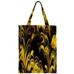 Fractal Marbled 15 Zipper Classic Tote Bags