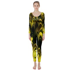 Fractal Marbled 15 Long Sleeve Catsuit