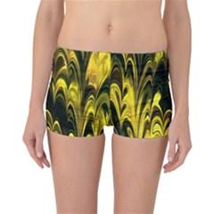 Fractal Marbled 15 Reversible Boyleg Bikini Bottoms