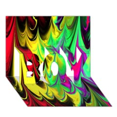 Fractal Marbled 14 BOY 3D Greeting Card (7x5)