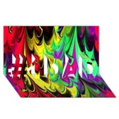 Fractal Marbled 14 #1 Dad 3d Greeting Card (8x4)