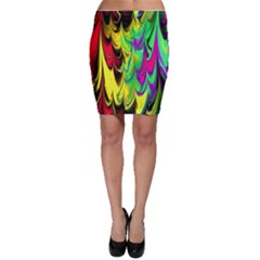 Fractal Marbled 14 Bodycon Skirts