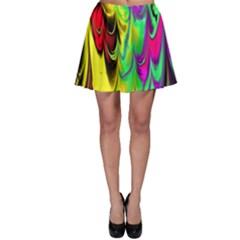 Fractal Marbled 14 Skater Skirts