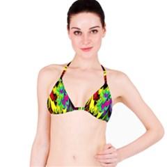 Fractal Marbled 14 Bikini Tops