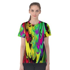 Fractal Marbled 14 Women s Cotton Tees