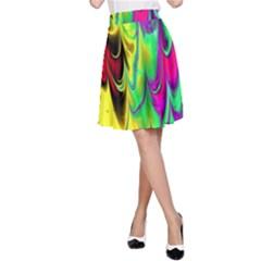 Fractal Marbled 14 A Line Skirts