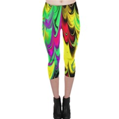 Fractal Marbled 14 Capri Leggings