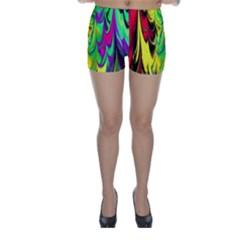 Fractal Marbled 14 Skinny Shorts