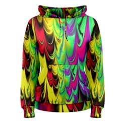 Fractal Marbled 14 Women s Pullover Hoodies