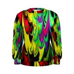 Fractal Marbled 14 Women s Sweatshirts