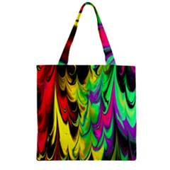 Fractal Marbled 14 Zipper Grocery Tote Bags