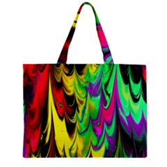 Fractal Marbled 14 Zipper Tiny Tote Bags