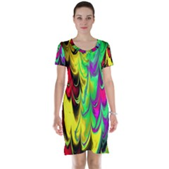 Fractal Marbled 14 Short Sleeve Nightdresses