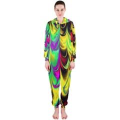Fractal Marbled 14 Hooded Jumpsuit (Ladies)