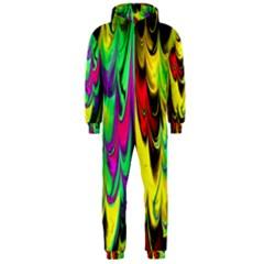 Fractal Marbled 14 Hooded Jumpsuit (Men)