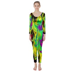 Fractal Marbled 14 Long Sleeve Catsuit