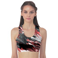 Fractal Marbled 8 Sports Bra