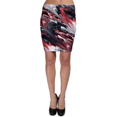 Fractal Marbled 8 Bodycon Skirts