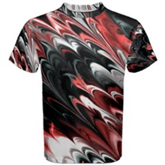 Fractal Marbled 8 Men s Cotton Tees