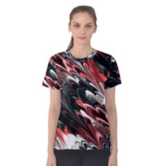 Fractal Marbled 8 Women s Cotton Tees