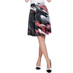 Fractal Marbled 8 A-Line Skirts