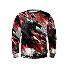 Fractal Marbled 8 Boys  Sweatshirts