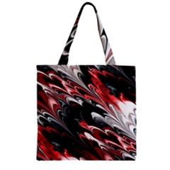 Fractal Marbled 8 Zipper Grocery Tote Bags