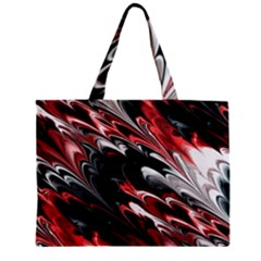 Fractal Marbled 8 Zipper Tiny Tote Bags