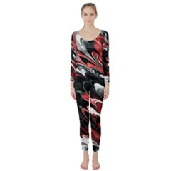 Fractal Marbled 8 Long Sleeve Catsuit