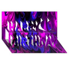 Fractal Marbled 13 Happy Birthday 3d Greeting Card (8x4)