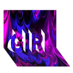Fractal Marbled 13 Girl 3d Greeting Card (7x5)