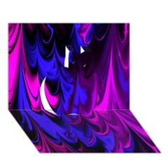 Fractal Marbled 13 Apple 3D Greeting Card (7x5)
