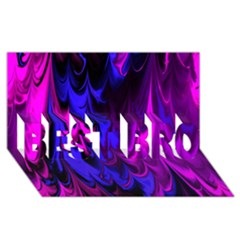 Fractal Marbled 13 BEST BRO 3D Greeting Card (8x4)
