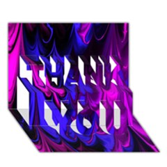 Fractal Marbled 13 THANK YOU 3D Greeting Card (7x5)