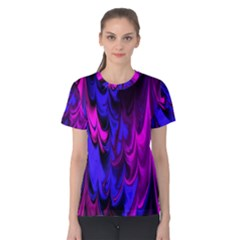 Fractal Marbled 13 Women s Cotton Tees