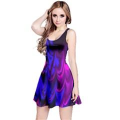 Fractal Marbled 13 Reversible Sleeveless Dresses