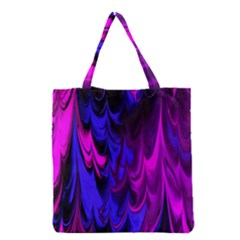 Fractal Marbled 13 Grocery Tote Bags