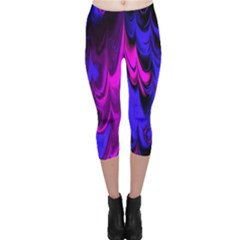 Fractal Marbled 13 Capri Leggings