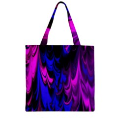 Fractal Marbled 13 Zipper Grocery Tote Bags