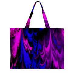 Fractal Marbled 13 Zipper Tiny Tote Bags