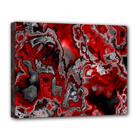 Fractal Marbled 07 Canvas 14  X 11