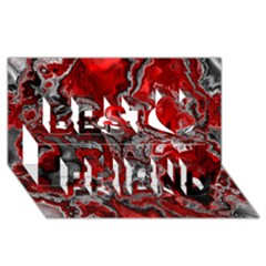 Fractal Marbled 07 Best Friends 3d Greeting Card (8x4)