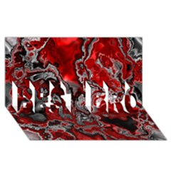 Fractal Marbled 07 BEST BRO 3D Greeting Card (8x4)