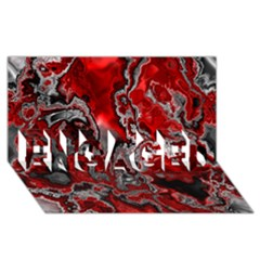Fractal Marbled 07 ENGAGED 3D Greeting Card (8x4)
