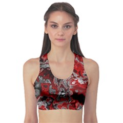 Fractal Marbled 07 Sports Bra